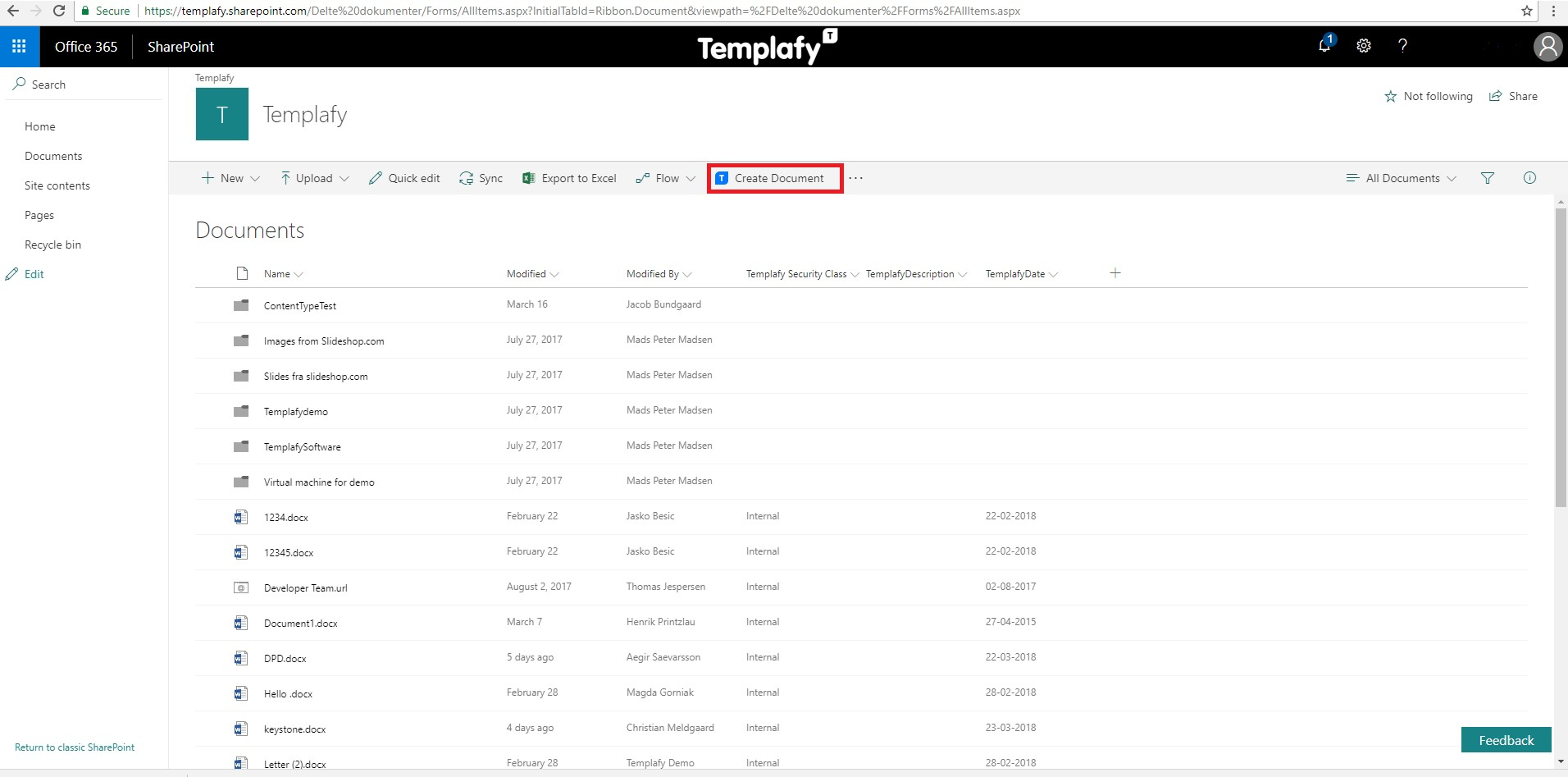 How To Create A Document With Templafy From Office 365 Online Help
