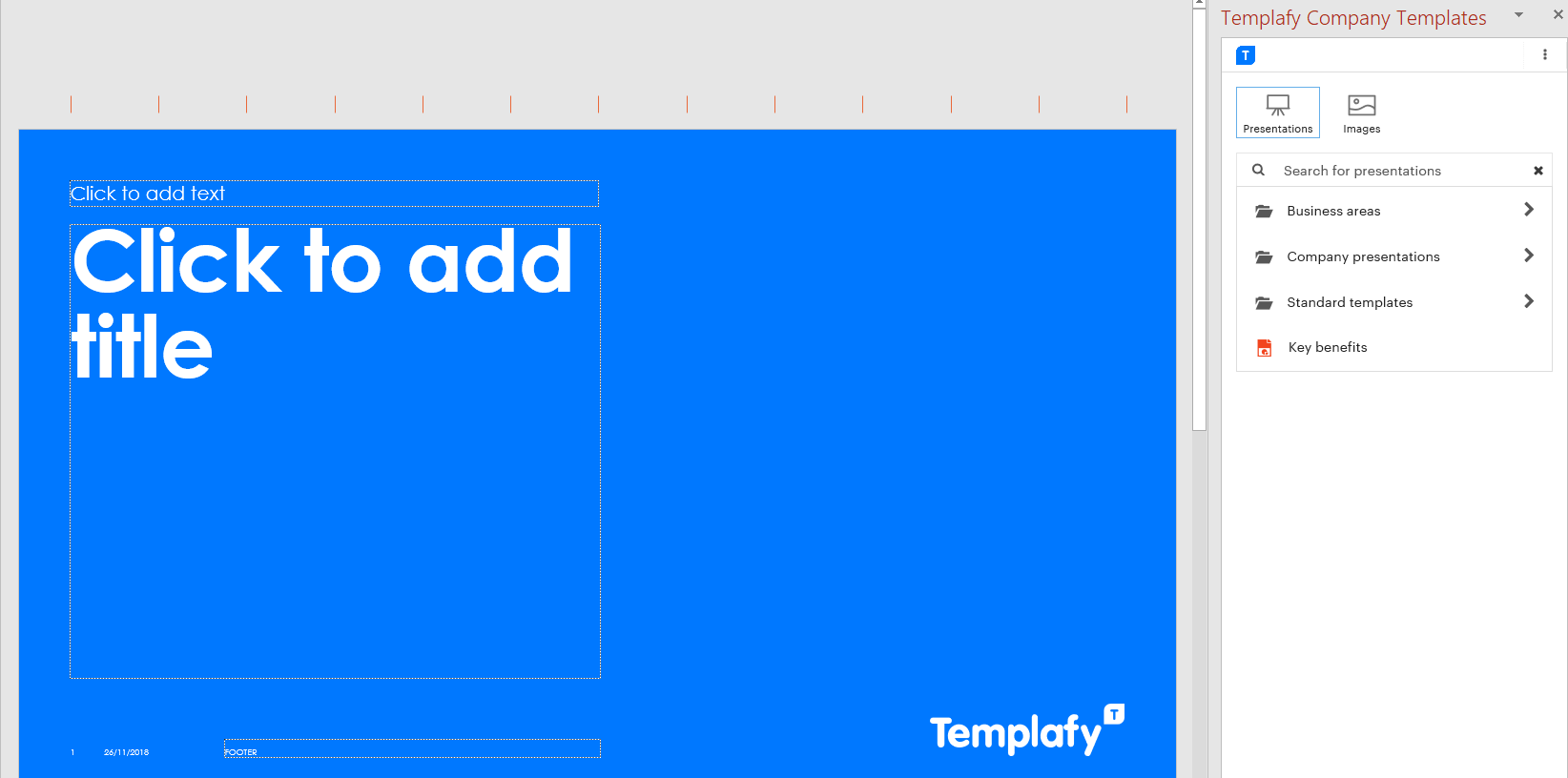 Templafy web Add-ins (For MS Office on-prem, Online & Mac