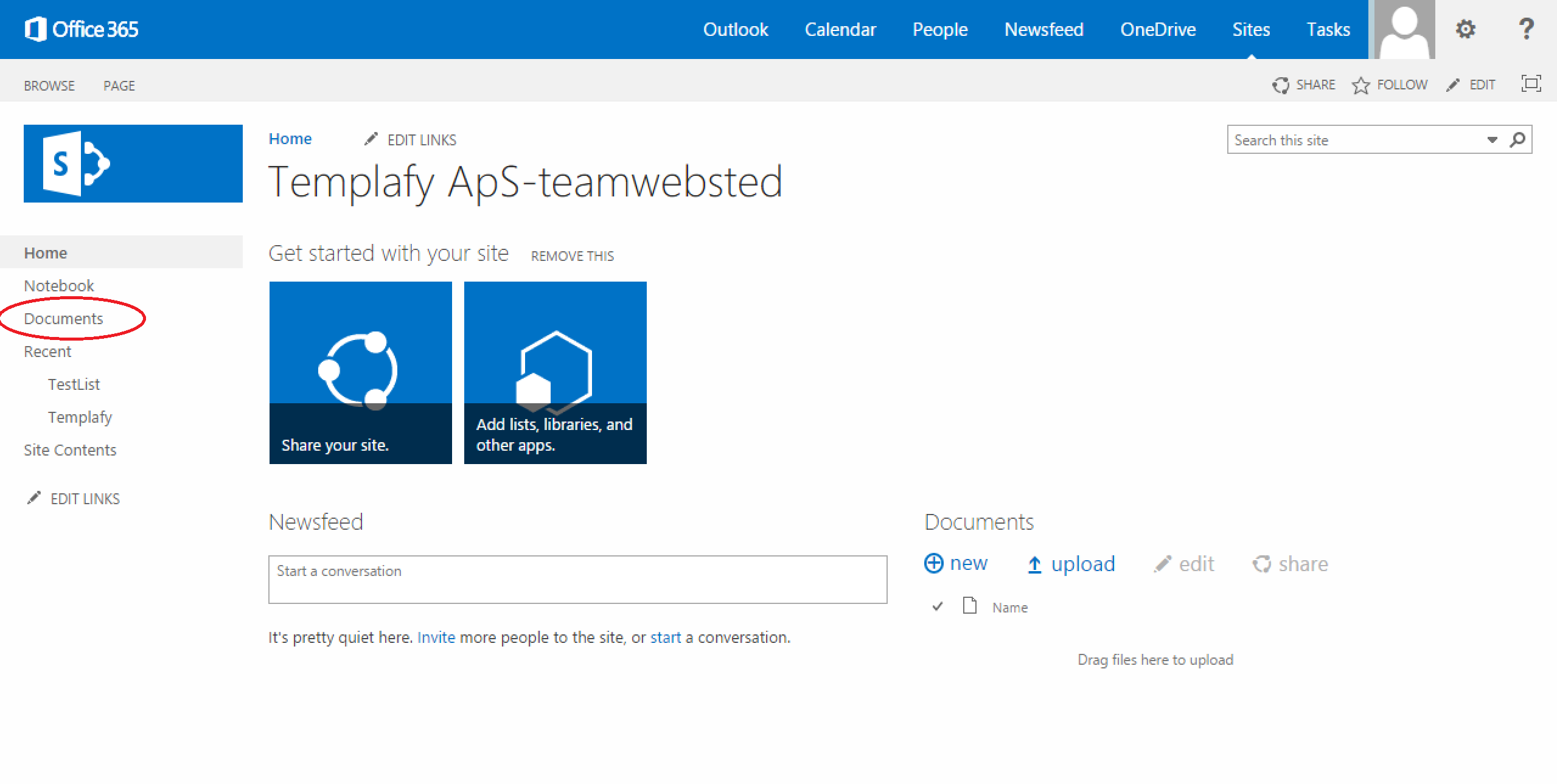 How to create a document with templafy from office 365 for Office 365 design document