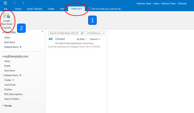 how to add follow up folder in outlook